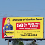 Premiere Panel billboard - Meineke Car Care - Orange County
