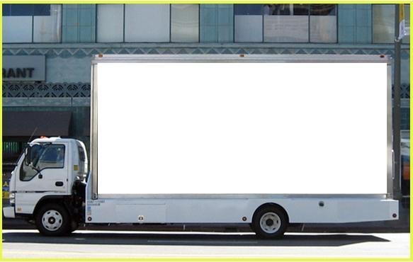 Blank Mobile Billboard