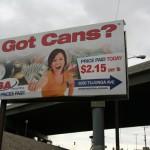 wrapped 30 sheet billboard - SA recycling